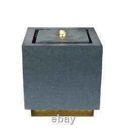 Granite Colour Water Feature Water Fountain with LED Lights Modern Garden Featur