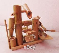 Handmade Bamboo Row Boat Garden Water Fountain