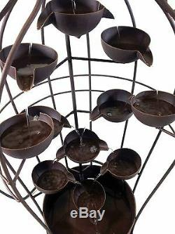 Home Or Garden Metal Water Feature Fountain Large Urn And Cups