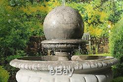 Huge Range Of, Hampshire Garden Ball Water Fountain Feature Solar Pump