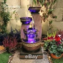 Kanthoros Contemporary Garden Water Feature, Outdoor Fountain Great Value