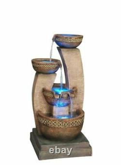 Kanthoros Contemporary Garden Water Feature, Outdoor Fountain Great Value