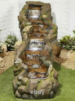 Kelkay Easy Fountain Bustling Waters Garden Water Feature Fountain + LED Lights