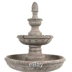 Large 1.3m Luxury Two Tier Centrepiece Garden Fountain Water Feature Kit