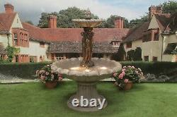 Large 3 Grace Fountain Self Contained Stone Water Feature Garden Ornament