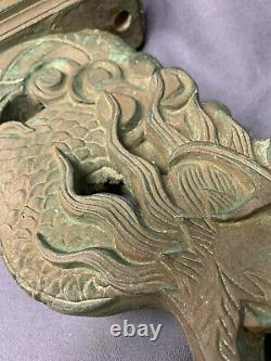 Large Bronze Chinese Dragon, Water feature, Wall Mounted