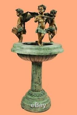 Large Bronze Water Fountain Statue with Angels Garden Sculpture Home Decor Deal