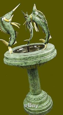 Large Bronze Water Fountain Statue with Marlins Garden Sculpture Home Decoration
