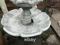Large Classical Style Two Tier Water Fountain Boy with Bird