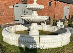 Large Concrete Surround for Garden Fountain Water Feature 300cm Diameter
