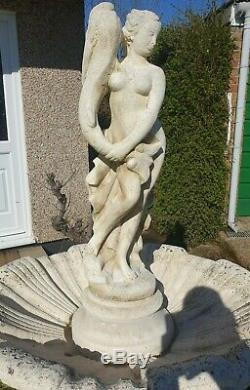 Large Italian Stone Bowled Garden Fountain with Water Feature Ornament