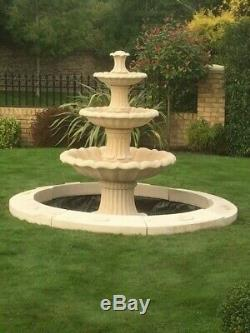 Large Laurel Pool Surround 3 Tiered Barcelona Water Fountain Garden Featur