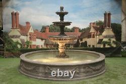 Large Lawrence Pool Surround 3 Tiered Edwardian Stone Garden Water Fountain