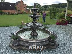 Large Neapolatin Pool Surround 3 Tiered Windsor Stone Garden Water Fountain