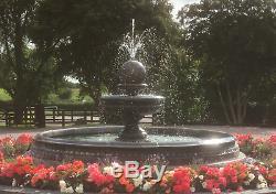 Large Neapolitan Pool Surround With Hampshire Ball Stone Garden Water Fountain