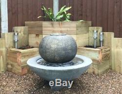 Large Patio Ball Fountain Garden Ornament Water Feature