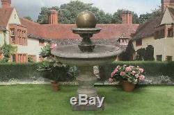 Large Regis Ball Fountain Stone Garden Ornament Water Feature Ornament