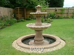 Large Selection Of Outdoor Water Feature Fountains Garden Ornament Solar Pump