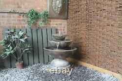 Large Stone Catinus Fountain Garden Ornament Patio Water Feature Self Contained