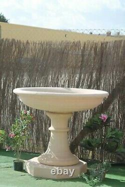 Large Stone Fountain Bowl And Pedastal Water Feature Garden Ornaments