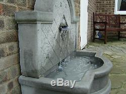 Large Stone Garden Outdoor Wall Water Fountain Feature Soalr Pump