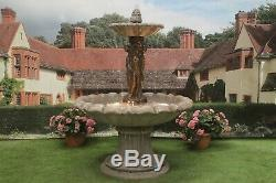 Large Stone Garden Water Fountain Feature 3 Grace Statue Ornament