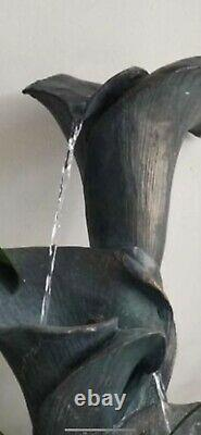 Lily Water Fountain Water Feature New Boxed