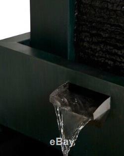 M & S 3 Tier Lit Dark Green Garden Water Feature Fountain NEW RRP £279