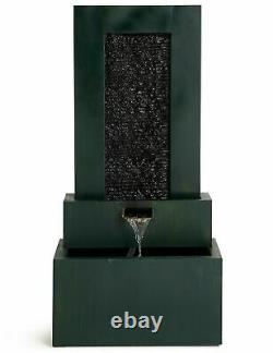 M&S Green Three Tier Garden Water Fountain Feature With Lights RRP £279