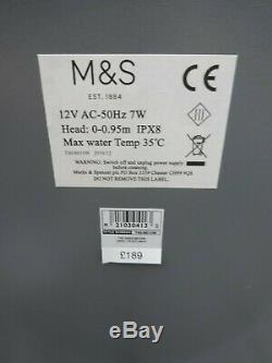 M&s Marks & Spencer Garden Water Fountain Feature With Lights New Rrp £189
