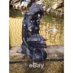 Michelle Mermaid Water Feature, Spitter fountain water garden ponds, yard decor