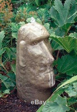 Moai Head Fountain Fountain Garden Water Feature