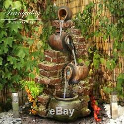 Moroccan Pots Traditional Garden Water Feature, Outdoor Fountain Great Value