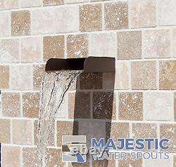 Mosegi 6 Rectangular Water Fountain Spout/scupper Textured Rust