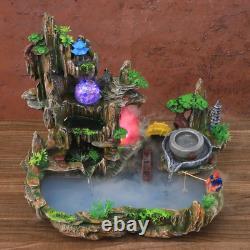 Mountain View Rockery Fountain Water Circulation Small Fish Tank Garden Bonsai
