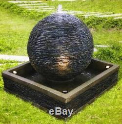 Natural Earth Stone Contemporary Garden Water Feature, Outdoor Fountain
