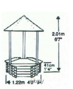 New Wishing Well Fountain Swedish Wood Complete Pond Garden Water Feature