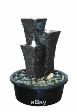 Oriental Towers Contemporary Garden Water Feature, Outdoor Fountain Great Value