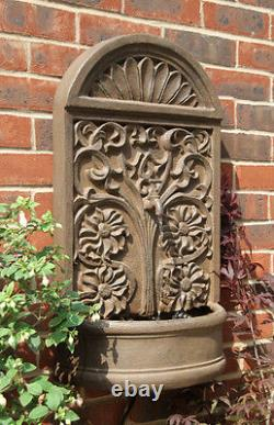 Outdoor Wall Mounted Water Feature Rust Effect Arbury Fountain Ambienté
