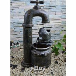 Outside spring fountain cascade copper antique optics garden water feature pump