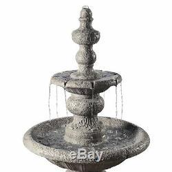 Peaktop Outdoor Décor Garden 2-Tier Water Pump Fountain Water Feature VFD8179-UK