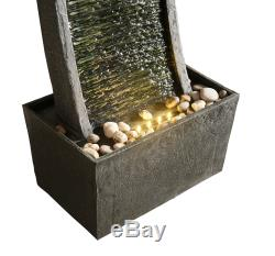 Peaktop Outdoor Garden Patio Decor Tall Curved Water Fountain Feature RJ19048UK