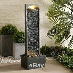 Peaktop Outdoor Garden Patio Decor Tall Water Fountain Feature Grey RJ-19041-UK