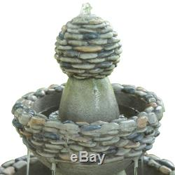 Peaktop Outdoor Garden Waterfall 3-Tier Water Pump Fountain Feature FI0030AA-UK