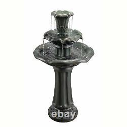 Peaktop YG0034AZ-EU Outdoor Garden Water Fountain Waterfall Decoration with R