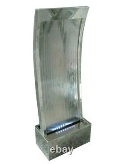 Peking Stainless Steel Fountain Water Feature With LED Lights