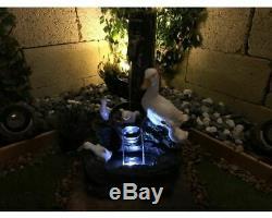 Playful Ducks Animal Water Feature, outdoor water feature, garden fountain