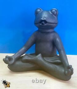 Pond Spitter Yoga Frog Garden Water Fountain Feature Statue Hose New