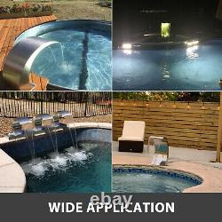 Pool Water Fountain Stainless Steel Pond Garden Swimming Pool Waterfall Fountain