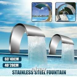 Pool Water Fountain Stainless Steel Pond Garden Swimming Pool Waterfall Hardware